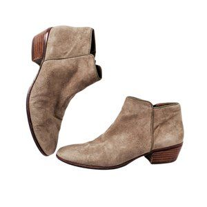 Sam Edelman Tan Putty Suede Petty Ankle Bootie 8